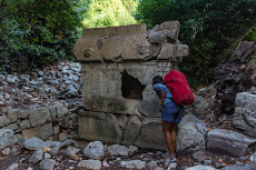 Exploring the ancient town of Olympos...