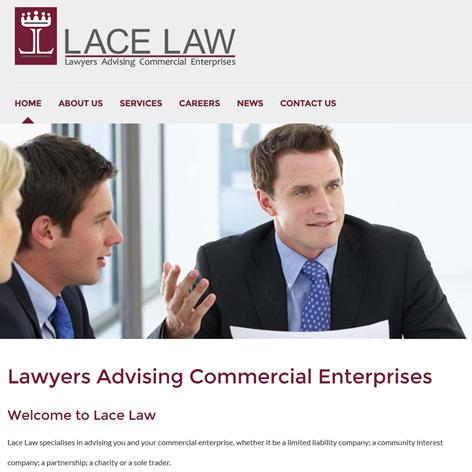 Lace law - half site width