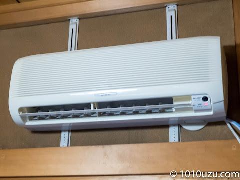 水滴が飛ばなくなったらタオルを外し暖房をかける