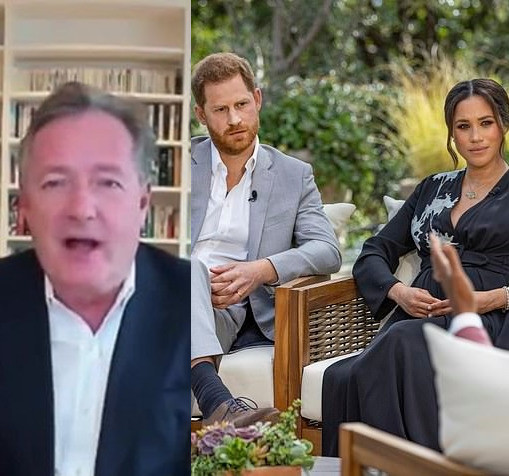 Piers Morgan reveals he's had messages from the Royal Family expressing 'gratitude someone was standing up for them' after Harry and Meghan's interview