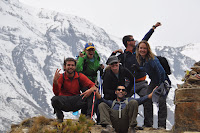 Boy band photo - Day 5 - Lower Pisang to Manang