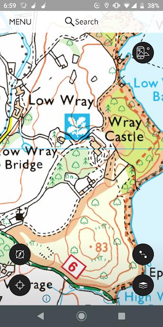 app screenshot showing map