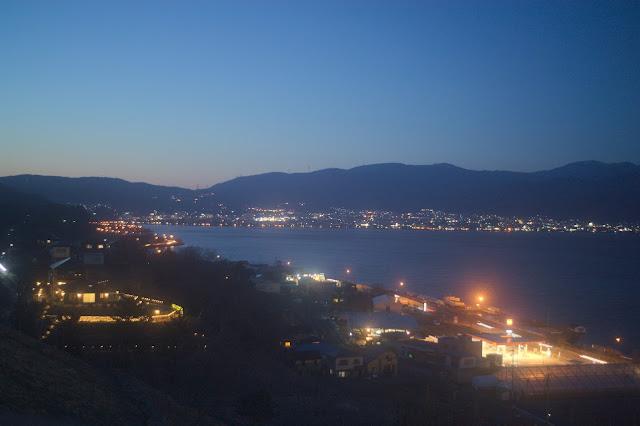 諏訪湖SA 夜景