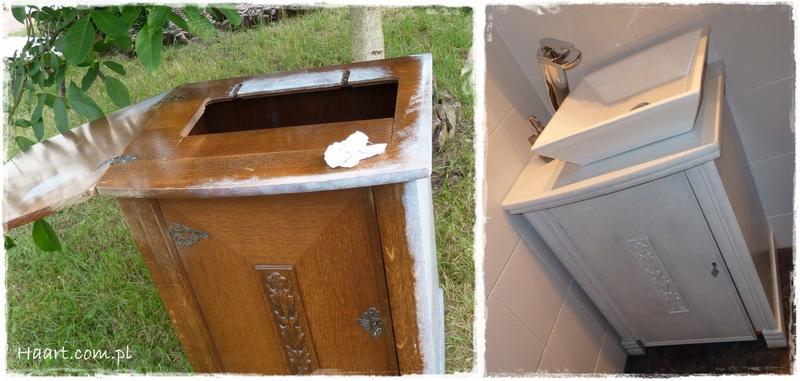 maszyna do szycia szafka pod umywalkę vintage - haart.pl blog diy zrób to sam 3