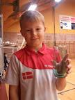 Caspar Møldum vandt 1. præmie i U9 rækken Jernløsehallen d. 10/11-12