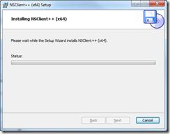 NSClient++ Setup - Install Progress