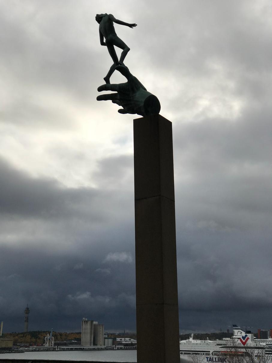 Hand of God sculpture