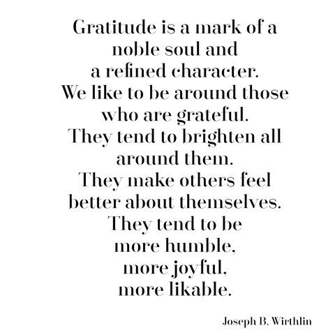 gratitude -- wirthlin