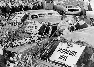 Opel festeggiava 50 anni fa la produzione di 10.000.000 di automobili