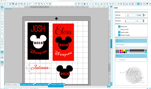 Personalizing Disney Autograph Books with Silhouette