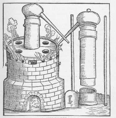 Sublimation Taken From Geber Works London 1678, Alchemical Apparatus