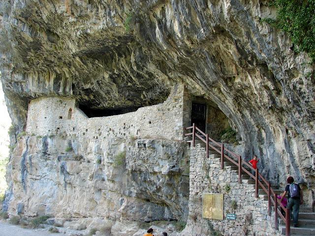 senderismo - Cascada de Aso - Cueva de Moros - Puente de Sangons - San Úrbez