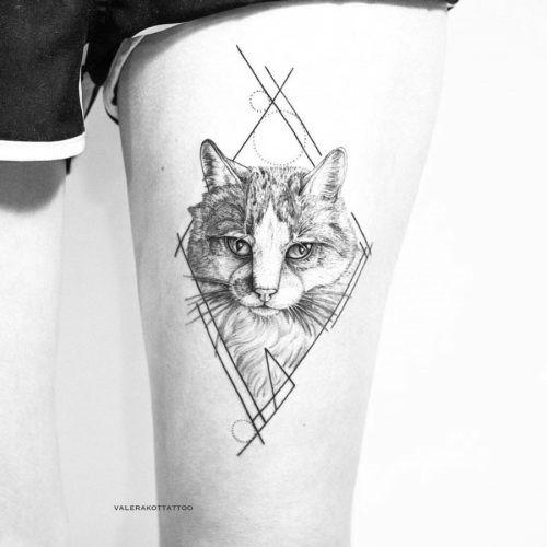 este_geomtricas_gato_tatuagem