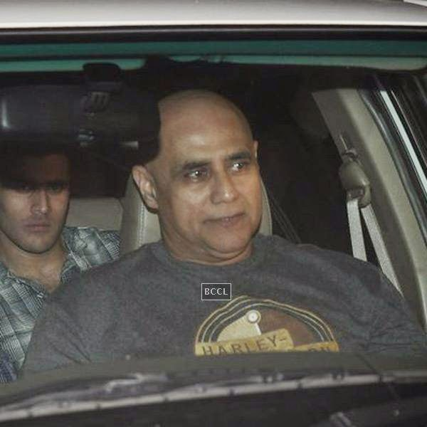 Puneet Issar arrives for the screening of a movie, in Mumbai, on July 24, 2014. (Pic: Viral Bhayani)<br />