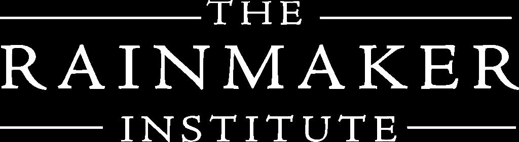Rainmaker Institute logo whote