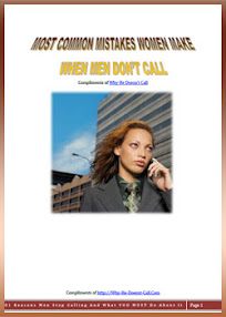 Cover of Chris Jackson's Book Most Common Mistakes Woman Make When Men Do Not Call