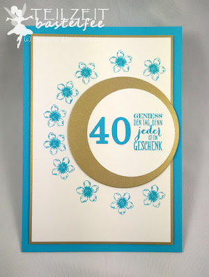 Stampin' Up! - In{k}spire_me #217, Petite Petals, Wimpeleien, Perfect Pennants, Birthday, Geburtstag, Sketch Challenge