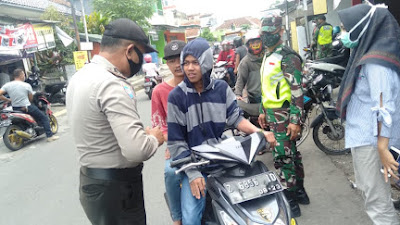 Operasi Yustisi depan Yogya Mitra Batik, 25 Warga Diberi Teguran