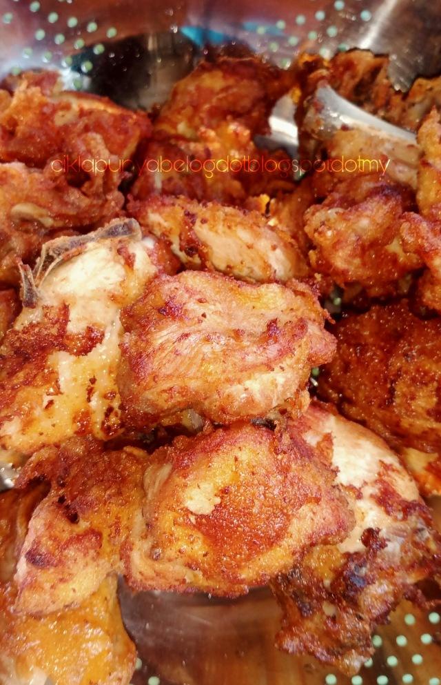 Ayam goreng tepung paling senang cara cikla.
