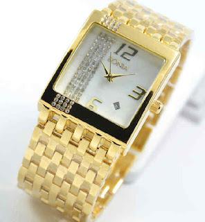 jam tangan Bonia date tikar full gold