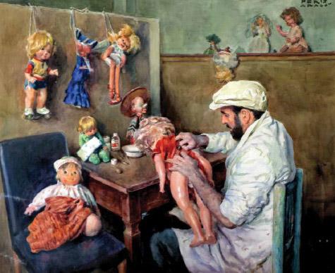 """Taller de muñecas"". José Peris Aragó"