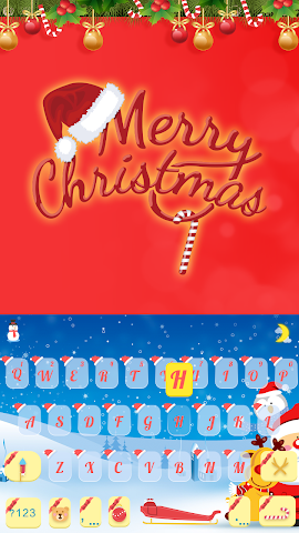 android Merry Christmas Keyboard Color Screenshot 0