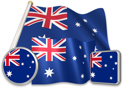 Australian flag animated gif collection