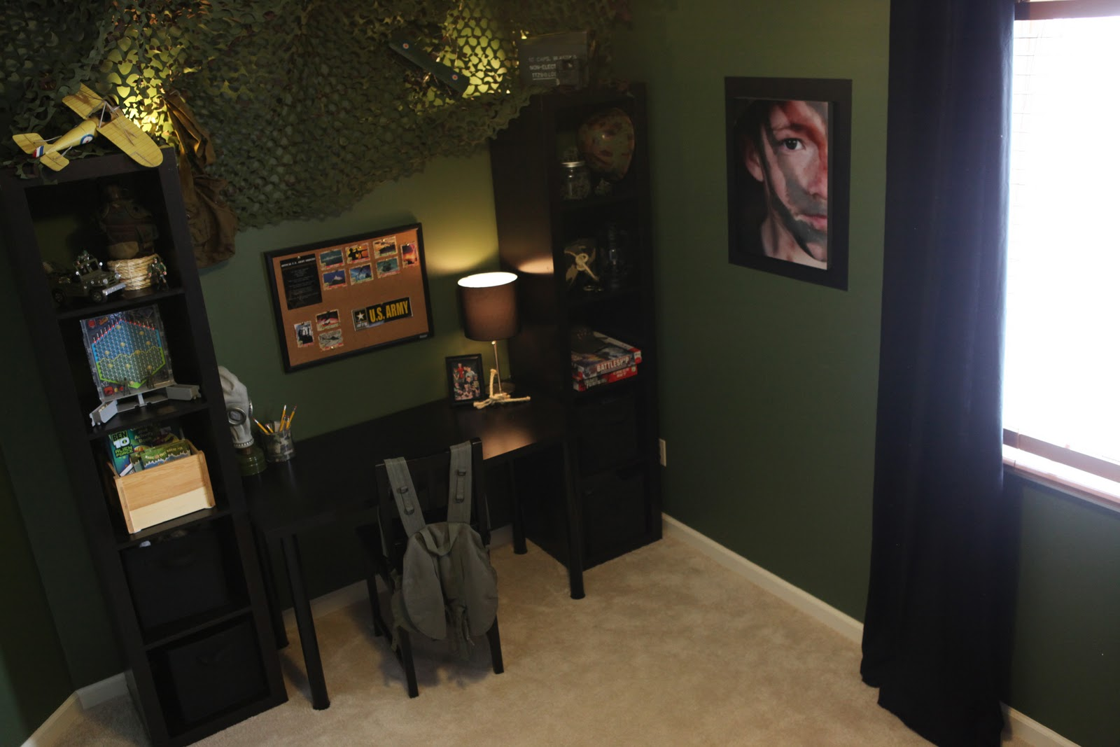 Army themed room demorest designs for Army themed bedroom ideas