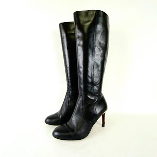 Coach Black Calf Boots