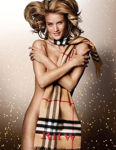Rosie Huntington-Whiteley in the Burberry Festive Campaign, shot by Mario Testino
