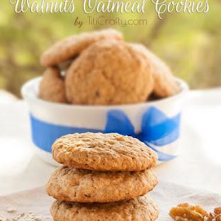 Walnut Oatmeal Cookies