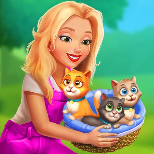 Jogue Paciência, construa uma casa na aldeia, colha colheitas e cuide de animais