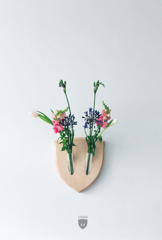 Trofeos con flores