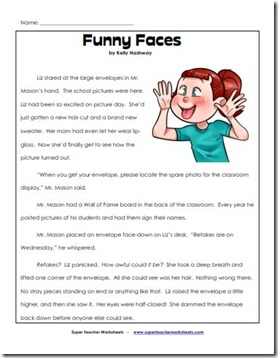 super teacher comprehension funn face