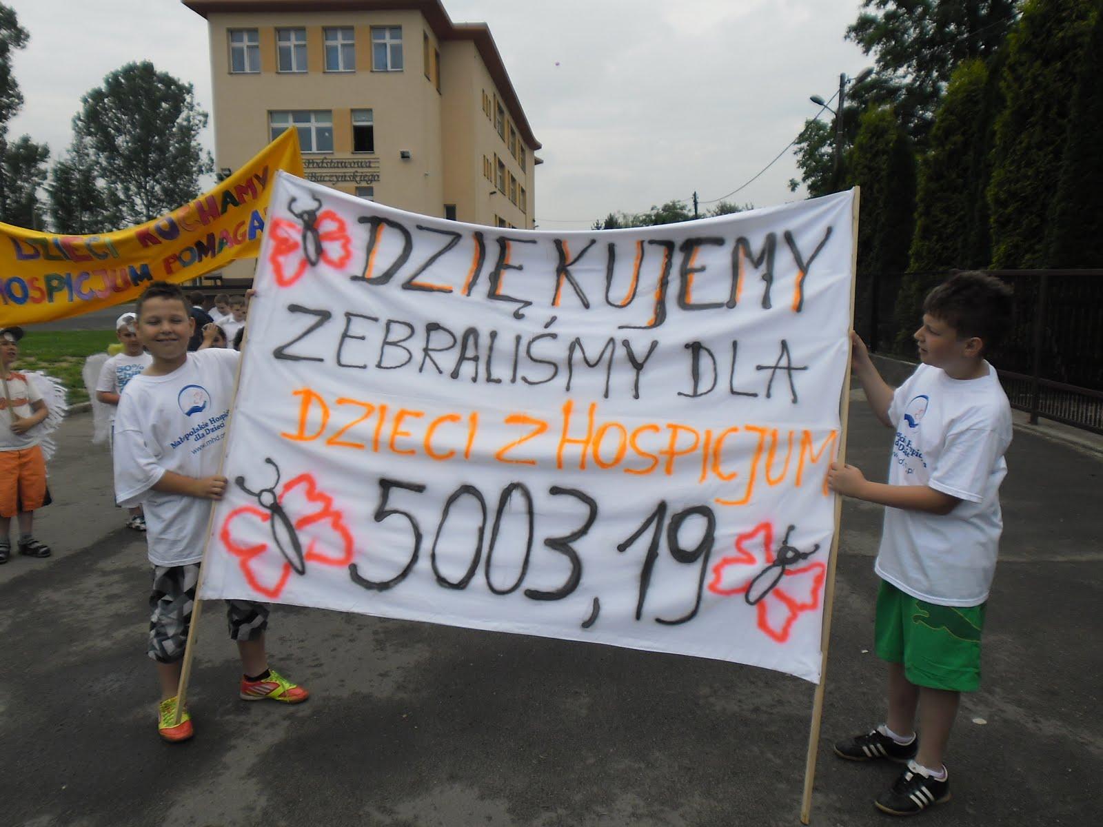 Wielki Anielski przemarsz przyjaciół MHD w Dobczycach.