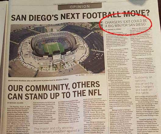 newspaper content pieces san diego