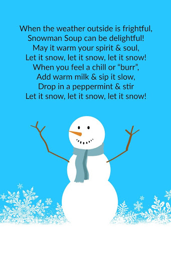 graphic regarding Snowman Soup Printable named Ginger Snap Crafts: Snowman Soup neighbor present with free of charge
