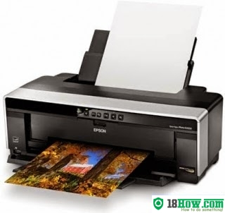 How to reset flashing lights for Epson R2000 printer