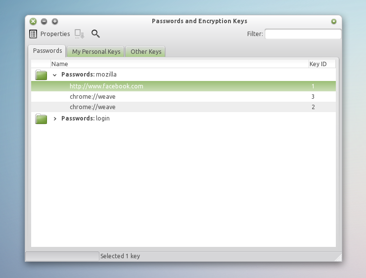 Save Firefox Passwords In GNOME Keyring [Extension] ~ Web