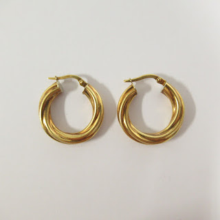 18K Gold Twisted Hoop Milor Earrings