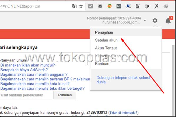 cara isi google adwords