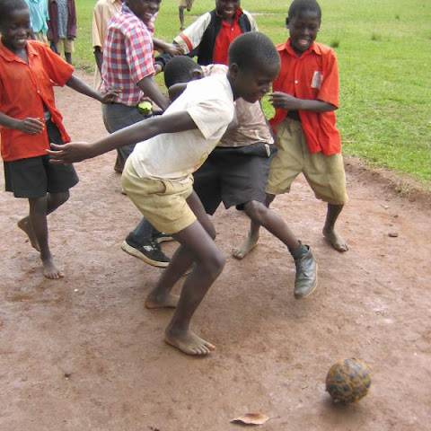 Football is played in schools across Africa