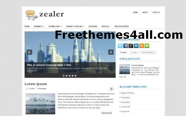 Free Blogger News Silver Theme Template