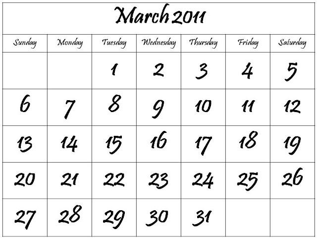 2011 march calendar template. calendar 2011 march template.