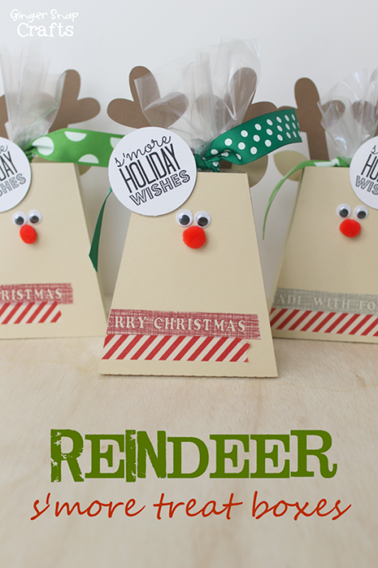 S'more Reindeer Treat Box from GingerSnapCrafts.com #Christmas[5]