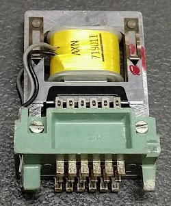 The faulty relay from the IBM 1402 card reader.