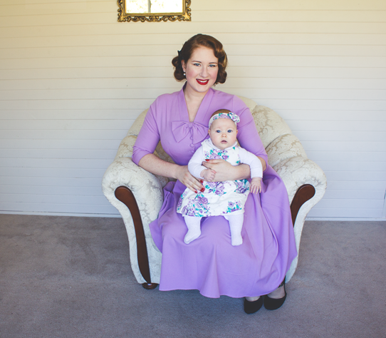 Mama's 1950s vintage style complete with cute baby! | Lavender & Twill