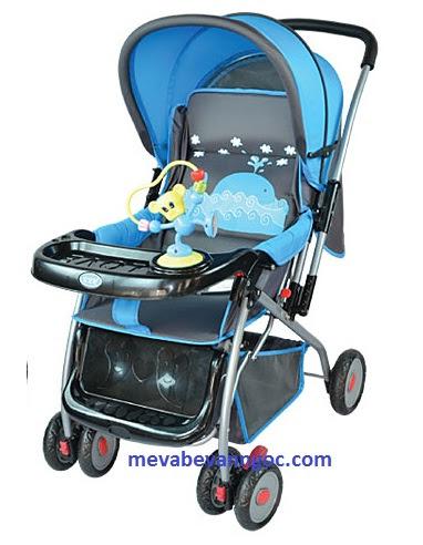 Xe đẩy em bé 709C màu xanh