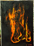 taniec mocy - koń Triglava, olej, płótno, szpachla, 50/70 cm własność prywatna