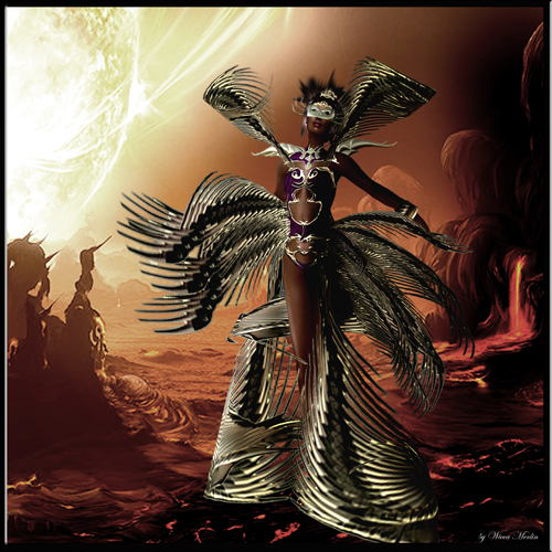Pagan Goddess With Wings, Goddesses
